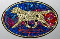 "Labrador Retriever ""Show Spectacular"" XL Oval Magnet - Yellow or Black Dog"
