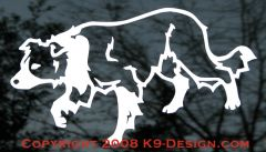 Border Collie Crouching / Herding Decal
