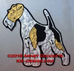 Wire Fox Terrier Standing Magnet - Choose Color
