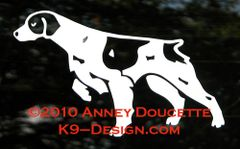 Brittany Pointing / Hunting Decal