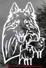 Belgian Sheepdog Headstudy with or without Sheep Decal