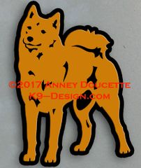 Finnish Spitz Standing Front Magnet