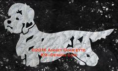 Dandie Dinmont Terrier Standing Decal