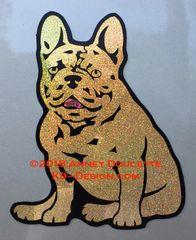 French Bulldog Sitting Magnet - Choose Color