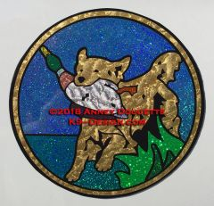 "Golden Retriever ""Slater Circle"" Large Magnet - Choose Color"