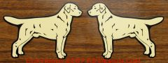 Labrador Retriever Standing Magnet - Choose Color