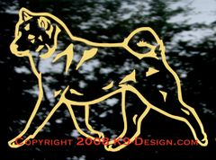 Shiba Inu Trotting Decal - Choose Color