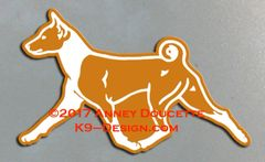 Basenji Trotting Magnet - Choose Color