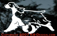 English Springer Spaniel Trotting Decal