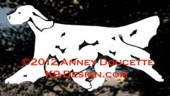 English Setter Trotting Decal