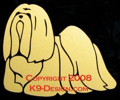 Lhasa Apso Standing Decal - Choose Color