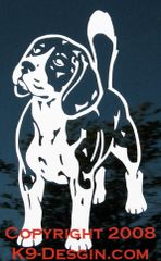 Beagle Standing Front Decal