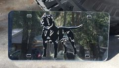 American Staffordshire Terrier Laser-Cut Acrylic License Plate