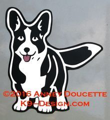 Cardigan Welsh Corgi Standing Front Magnet - Choose Color
