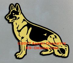 German Shepherd Dog Stacked Magnet - Choose Color