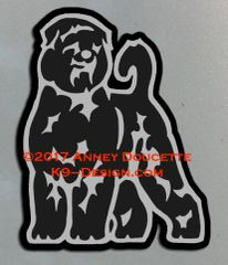Black Russian Terrier Stand Front Magnet