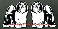 Tibetan Terrier Standing Magnet - Choose Color