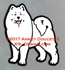 Samoyed Stand Front Magnet