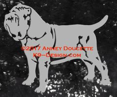 Neapolitan Mastiff Stacked Decal - Choose Color