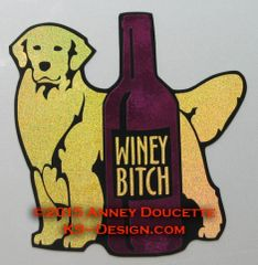 "Golden Retriever ""WINEY BITCH"" Magnet"