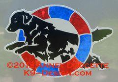 Flat-Coated Retriever Agility Tire Magnet - Choose Colors