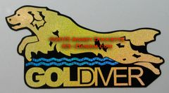 "Golden Retriever ""Goldiver"" Dock Diving Magnet"