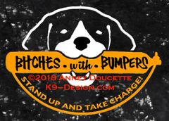 "German Shorthaired Pointer ""Bitches With Bumpers"" Decal"