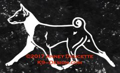 Basenji Trotting Decal