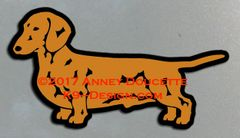Smooth Dachshund Standing Magnet