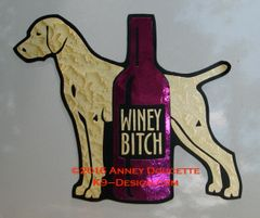 "Vizsla ""WINEY BITCH"" Magnet"