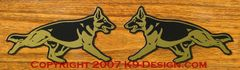 German Shepherd Dog Trotting Magnet - Choose Color