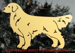 Golden Retriever Standing Decal