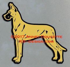 Great Dane Stacked Magnet - Choose Color