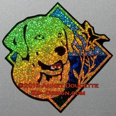 "Labrador Retriever Duck / Hunting Diamond 8"" Magnet - Choose Color"