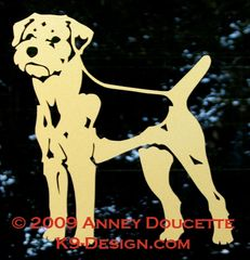 Border Terrier Standing Decal
