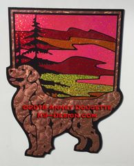 Golden Retriever Sunset Large Magnet - Choose Color