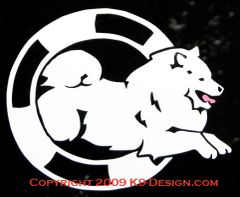 Samoyed Agility Decal