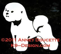 Bichon Frise Standing Decal