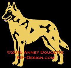 Belgian Malinois Stacked Decal