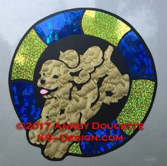Cocker Spaniel Agility Tire Magnet - Choose Colors