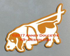 Basset Hound Tracking Magnet - Choose Color