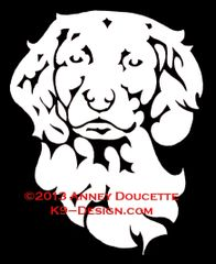 Boykin Spaniel Headstudy Decal