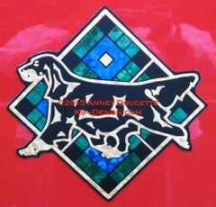 """Gordon Setter Scottish Plaid Diamond 8"""" Magnet - Choose Colors"""