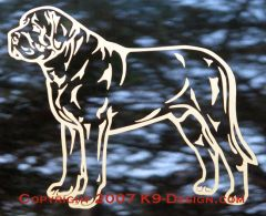 Mastiff Stacked Decal - Choose Color