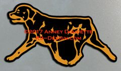 Rottweiler Trotting Magnet