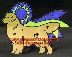 "Golden Retriever ""Freedom"" Ribbon Magnet - Choose Ribbon Color"