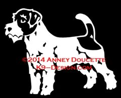 Russell Terrier (Wire) Standing Decal