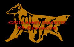 Belgian Tervuren Trotting Decal