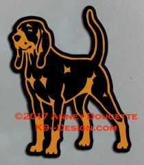 Black & Tan Coonhound Standing Magnet