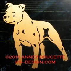 Staffordshire Bull Terrier Decal - Choose Color